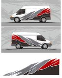 Van car and vehicle decal Graphics Kit designs. Professional graphics design decal kits for van vehicle and truck Truck and vehicle decal Graphics Kits design vector illustration