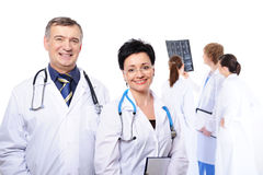 Professional group of doctors Stock Photo