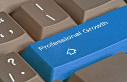 Professional growth. Keyboard with key for professional growth royalty free stock photo