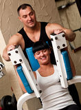 Professional gym instructor stock images