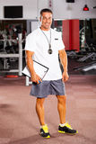 Professional gym trainer royalty free stock photos
