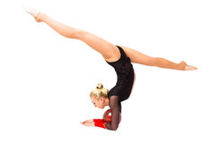 Professional gymnast with ball Royalty Free Stock Photo