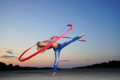 Professional gymnast Royalty Free Stock Photo