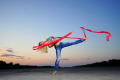 Professional gymnast Stock Image