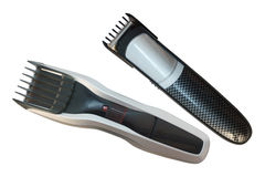 Professional hair clipper. Isolated on a white background stock photography