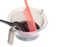 Professional Hair Coloring Tools - Stock Image Royalty Free Stock Images