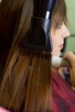 Professional hair dressing stock image