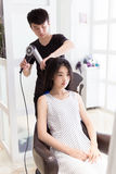 Professional hair stylist Royalty Free Stock Images
