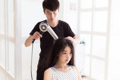 Professional hair stylist Stock Photography