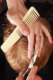 Professional haircut Stock Photography