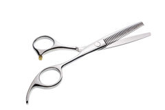 Professional haircutting scissors isolated, with clipping path. Royalty Free Stock Images
