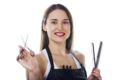 Professional  Hairdresser Stock Images