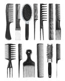 Professional hairdresser comb Royalty Free Stock Images