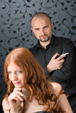 Professional hairdresser at luxury salon Royalty Free Stock Photos