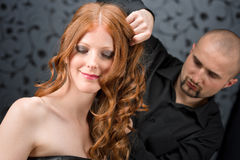 Professional hairdresser at luxury salon Royalty Free Stock Photo