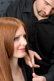 Professional hairdresser at luxury salon Stock Photo
