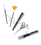 Professional hairdresser and make up tools Stock Photo