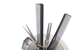 Professional Hairdresser's tools. - Stock Image Royalty Free Stock Photos