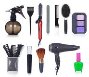 Professional hairdresser tools, Stock Photo