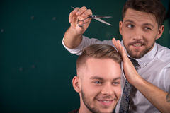 Professional  hairdressing salon Stock Images
