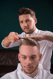 Professional  hairdressing salon Stock Photography