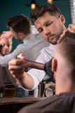 Professional  hairdressing salon Stock Image