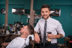 Professional  hairdressing salon Stock Photos
