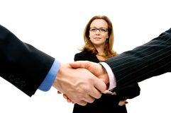 Professional handShake Arkivfoton