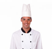 Professional handsome chef smiling at you Royalty Free Stock Photography