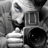 professional hasselbladfotografer Royaltyfria Foton