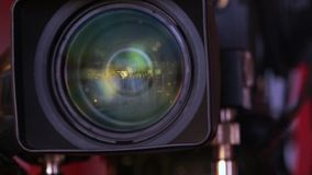 Professional HD video camera stock footage