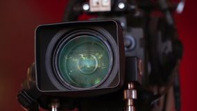Professional HD video camera stock video footage