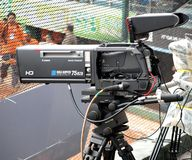 Professional High Definition TV Camera Stock Photography