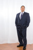 Professional Hispanic Male In Suit With Confident Expression Stock Images