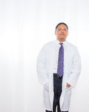 Professional Hispanic Male Wearing Lab Coat Royalty Free Stock Photo