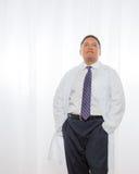 Professional Hispanic Male Wearing Lab Coat Royalty Free Stock Images