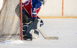 Professional hockey equipment. man playing ice hockey, healthy lifestyle f royalty free stock images