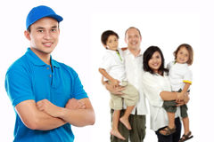 Professional home moving services royalty free stock photography