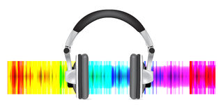 Professional icon of the headphones Royalty Free Stock Photo