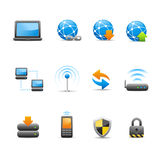 Professional Icon Set  /  1 - Connectivity. Professional icons for your website or presentation Royalty Free Stock Photography