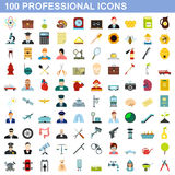 100 professional icons set, flat style. 100 professional icons set in flat style for any design vector illustration royalty free illustration