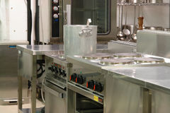 Professional industrial kitchen stock image
