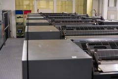 Professional Industrial Printer Equipment Mechanism Machine Mechanical Press Detail Roller Conveyor Lever royalty free stock image
