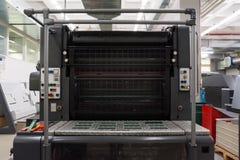 Professional Industrial Printer Equipment Mechanism Machine Mechanical Press Detail Roller Conveyor Lever stock photography