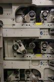 Professional Industrial Printer Equipment Mechanism Machine Mechanical Press Detail Roller Conveyor Lever stock images