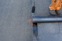 Professional installation of waterproofing Stock Images