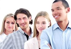 Professional international business team.the concept of teamwork stock images