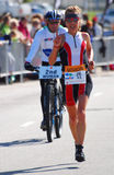 Professional Ironman triathlete royalty free stock photos