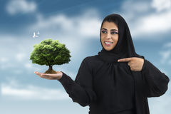 Professional islamic executive wearing traditional Stock Image