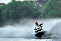 Professional jet ski riders Stock Photo